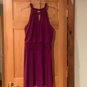 Dresses & Skirts - Plum colored cocktail dress.  Soft and comfy!